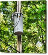 Transformer And Power Lines Canvas Print