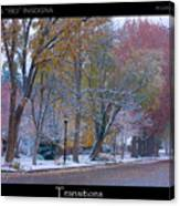 Transitions Autumn To Winter Snow Poster Canvas Print