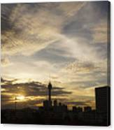 Transpicuous Balcony Sunset #0010 Canvas Print