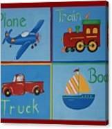 Transportation Modes Canvas Print