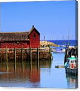 Trap House At Head Of Harbor Canvas Print