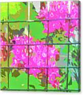 Trapped Flowers Canvas Print