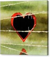 Trapped Heart Canvas Print