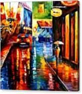 Trapped Inside Blue Rain Canvas Print