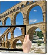 Travel To Pont Du Gard  Canvas Print