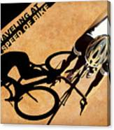 Traveling At The Speed Of Bike Canvas Print