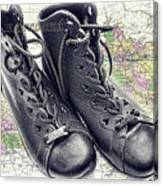Traveling Boots Kentucky Canvas Print