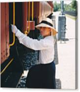 Traveling By Train Canvas Print
