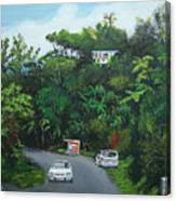 Traveling In Adjuntas Mountains Canvas Print