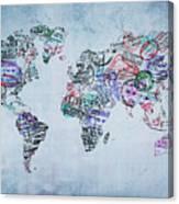 Traveler World Map Canvas Print