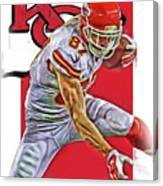 Travis Kelce Kansas City Chiefs Oil Art Canvas Print