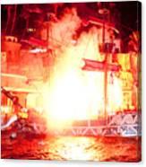 Treasure Island Explosion Canvas Print