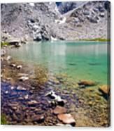 Treasure Lake 3 Rocky Shoreline Canvas Print