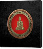 Treasure Trove - Gold Buddha On Black Velvet Canvas Print