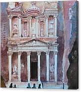 Treasury Building Petra Jordan Canvas Print