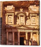 Treasury Of Petra In Color Canvas Print