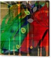 Tree and a skewed rainbow Canvas Print