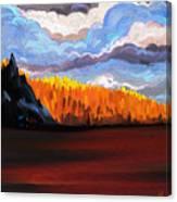 Tree Fall Camping Canvas Print