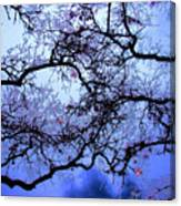 Tree Fantasy In Blue Canvas Print
