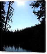 Tree-framed Lake Canvas Print