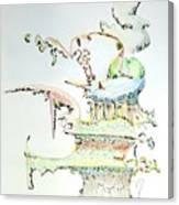 Tree House Condo Man Canvas Print