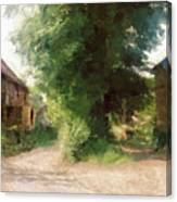 Tree In The Road Canvas Print