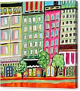 Tree Line Avenue Canvas Print