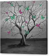 Tree Of Butterflies  Canvas Print