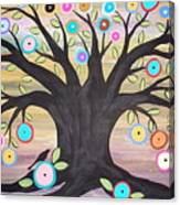 Tree Of Life And Bird Canvas Print