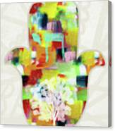 Tree Of Life Hamsa- Art By Linda Woods Canvas Print