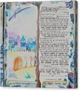 tree of life ketubah -Conservative version Canvas Print