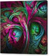 Tree Of Life-pink And Blue Canvas Print