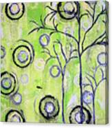 Tree Of Life Spring Abstract Tree Painting  Canvas Print