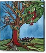 Tree Of Life Temptation And Death Canvas Print