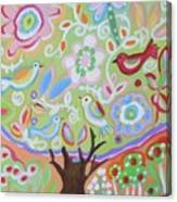 Tree Of Life With Dragonfly Canvas Print