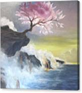 Tree On Cliff Canvas Print