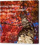 Tree On Fire - Haiku Canvas Print