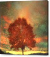 Tree On Fire Canvas Print