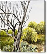 Tree Painting Canvas Print