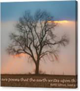 Tree - Sunset - Quotation Canvas Print