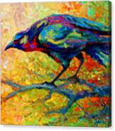 Tree Talk - Crow Canvas Print