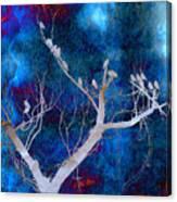 Tree Top Flock Canvas Print