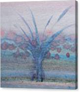 Tree With Balls Four Canvas Print