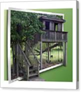 Treehouse Playground Canvas Print