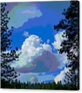 Trees And A Cloud For Crying Out Loud Canvas Print