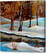 Trees At The Rivers Edge Canvas Print