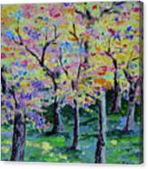 Trees On Hideaway Ct Canvas Print