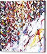 Trees To Celerina - St Moritz Canvas Print