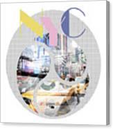 Trendy Design New York City Geometric Mix No 1 Canvas Print