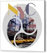 Trendy Design New York City Geometric Mix No 2 Canvas Print